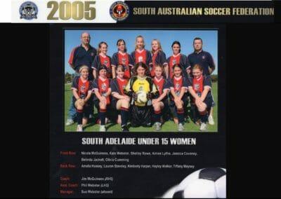 U15 League Winners 2005